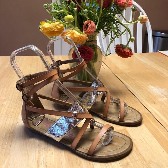 17cf69511a07 Blowfish Shoes - Blowfish Gladiator Sandals Tan   Gold size 7.6